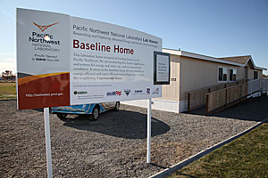 Photo of Baseline Home installed at Lab Homes site