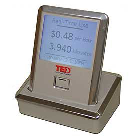 This wireless display panel is used to present the real-time electricity cost and usage of the Lab Homes.